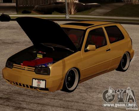 VW Golf MK 4 low & slow para GTA San Andreas vista posterior izquierda