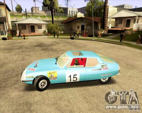 Citroen SM 1971 para GTA San Andreas vista hacia atrás