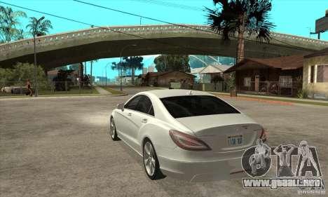 Mercedes-Benz CLS 350 2011 para GTA San Andreas vista posterior izquierda