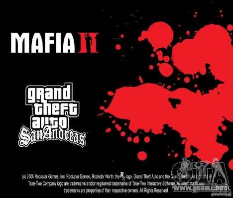 Imágenes de arranque en el estilo de una Mafia I para GTA San Andreas