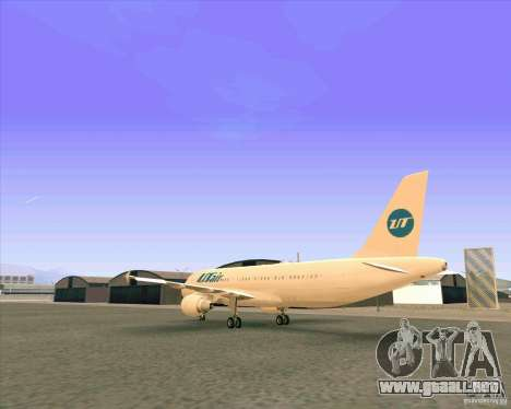 Airbus A-320 aerolínea UTair para la visión correcta GTA San Andreas