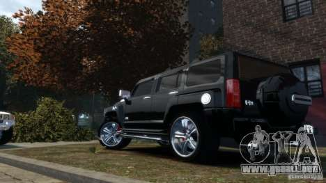 Hummer H3 2005 Chrome Final para GTA 4 left