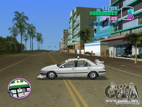 Peugeot 406 Taxi para GTA Vice City vista lateral izquierdo