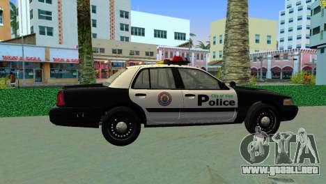 Ford Crown Victoria Police 2003 para GTA Vice City vista lateral izquierdo