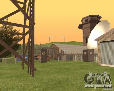 Base Gareli para GTA San Andreas quinta pantalla