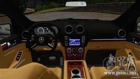 Mercedes-Benz ML63 AMG para GTA 4 vista hacia atrás
