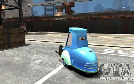 Guido de Cars Mater-National para GTA 4 Vista posterior izquierda