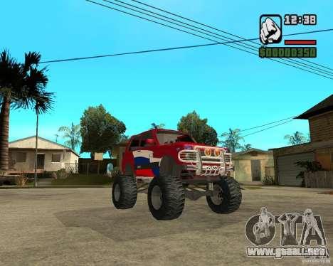 VAZ-21213 4x4 Monster para visión interna GTA San Andreas