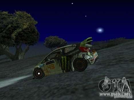Ford Fiesta Ken Block WRC para GTA San Andreas left