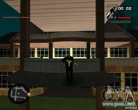 AK-47 Gold para GTA San Andreas tercera pantalla