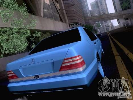 Mercedes-Benz S-Class W140 para visión interna GTA San Andreas