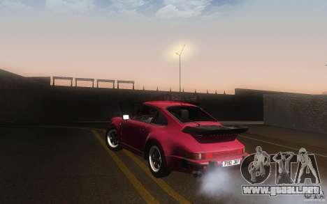 Porsche 911 Turbo 1982 para GTA San Andreas vista posterior izquierda