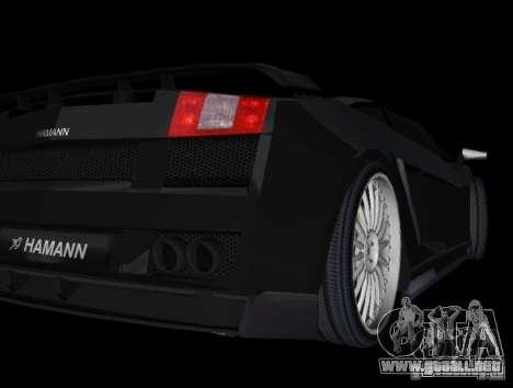 Lamborghini Gallardo Hamann Tuning para GTA Vice City visión correcta