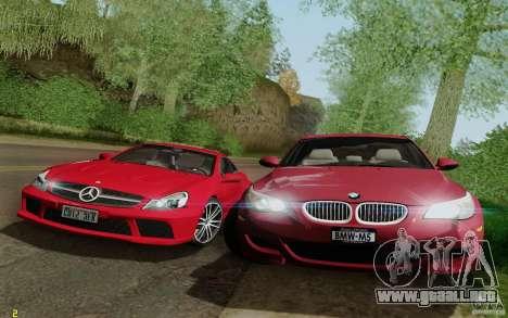 BMW M5 2009 para la vista superior GTA San Andreas