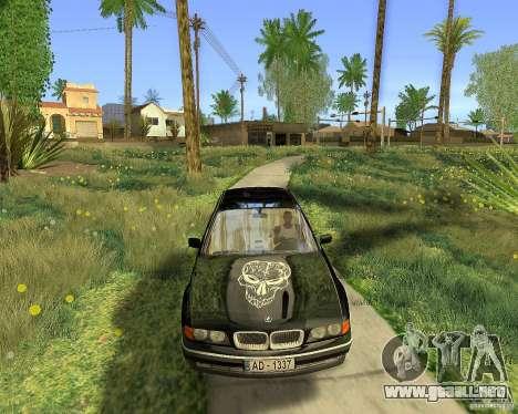 BMW 730i E38 1996 para visión interna GTA San Andreas