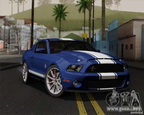 Ford Shelby GT500 Super Snake 2011 para la vista superior GTA San Andreas