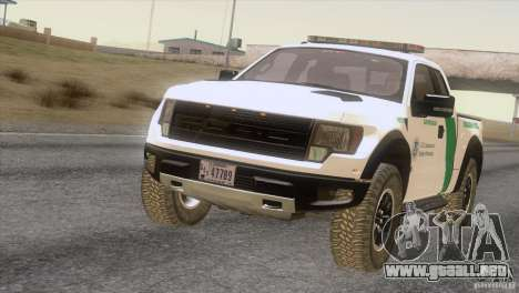 Ford Raptor para GTA San Andreas left