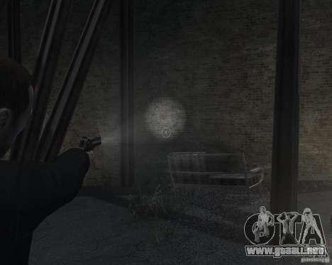 Flashlight for Weapons v 2.0 para GTA 4 adelante de pantalla