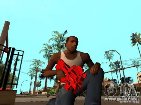 Red Chrome Weapon Pack para GTA San Andreas tercera pantalla