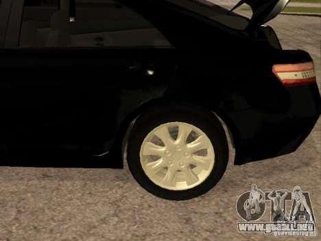Toyota Camry 2010 para visión interna GTA San Andreas