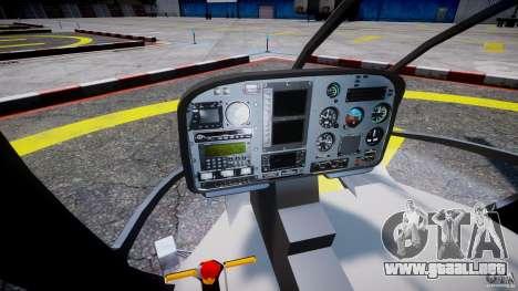 Eurocopter EC 130 Finnish Police para GTA 4 vista hacia atrás