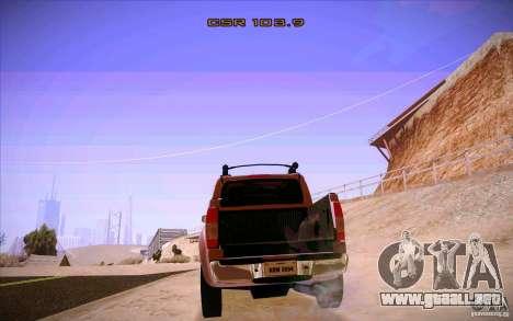 Nissan Fronter para vista lateral GTA San Andreas