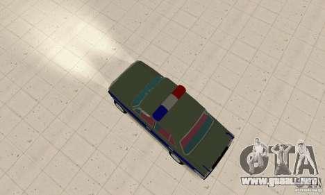VAZ 2101 policía para GTA San Andreas vista posterior izquierda