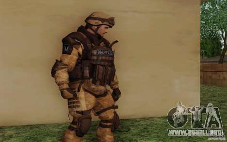 Šturomvik de Warface para GTA San Andreas segunda pantalla