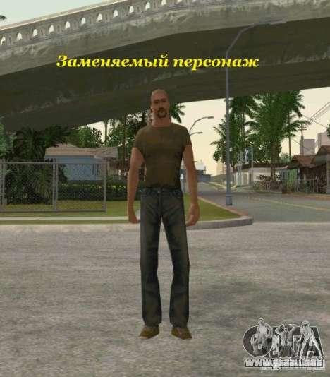Agrupación de mercenarios de un acosador para GTA San Andreas sucesivamente de pantalla