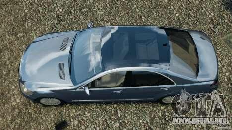 Mercedes-Benz W221 S500 2006 para GTA 4 visión correcta