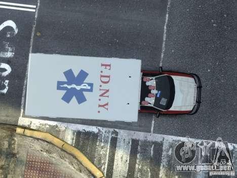 Ford F-350 Ambulance FDNY para GTA 4 visión correcta
