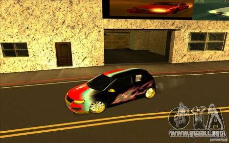 Volkswagen Golf V R32 Custom para GTA San Andreas interior