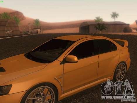 Mitsubishi  Lancer Evo X BMS Edition para las ruedas de GTA San Andreas