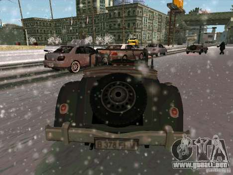Auto sabotaje juego para GTA San Andreas vista posterior izquierda