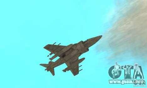 AV-8 Harrier para vista lateral GTA San Andreas