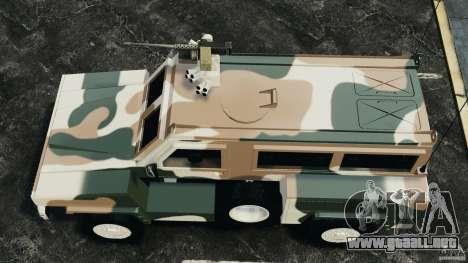 RG-31 Nyala SANDF para GTA 4 visión correcta