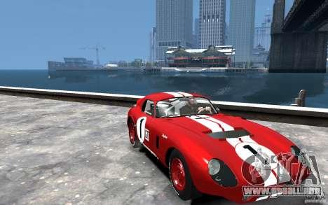 Shelby Cobra Daytona Coupe 1965 para GTA 4 vista hacia atrás