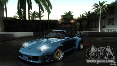 Porsche 993 RWB para GTA San Andreas vista posterior izquierda