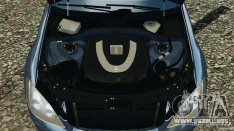 Mercedes-Benz W221 S500 2006 para GTA 4 vista superior