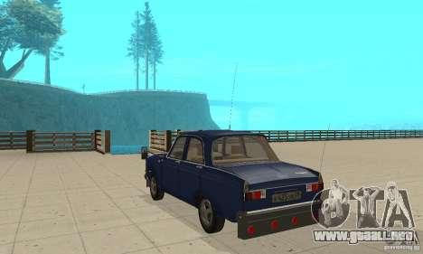 Moskvich 412 con afinación para GTA San Andreas vista posterior izquierda