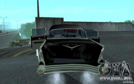 Chevrolet BelAir 4 Door Sedan 1957 para la visión correcta GTA San Andreas