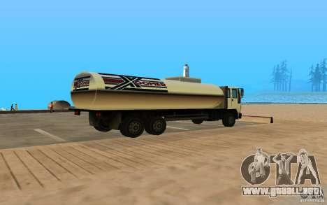 Tanque c DFT-30 para GTA San Andreas vista posterior izquierda