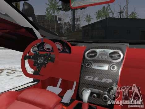 Mercedes-Benz SRL 722 Police para visión interna GTA San Andreas