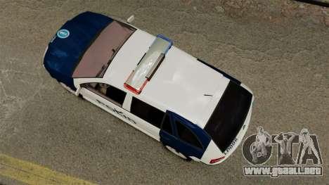 Skoda Fabia Combi Finnish Police ELS para GTA 4 visión correcta