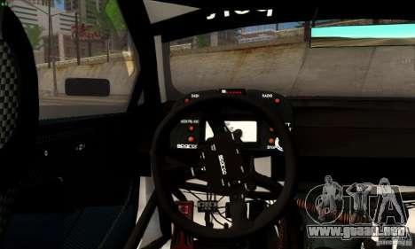BMW M3 GT2 para GTA San Andreas vista hacia atrás