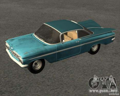Chevrolet Impala Coupe 1959 Used para la visión correcta GTA San Andreas