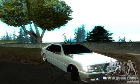 Mercedes-Benz S600 AMG para GTA San Andreas left