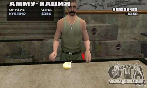 The Holy Grenade para GTA San Andreas segunda pantalla