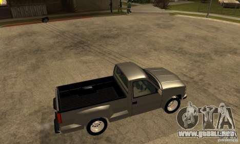 Chevrolet Silverado 1500 para GTA San Andreas vista posterior izquierda