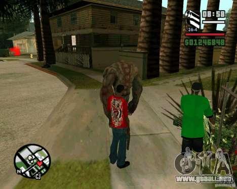 Tanque del Left 4 Dead. para GTA San Andreas tercera pantalla